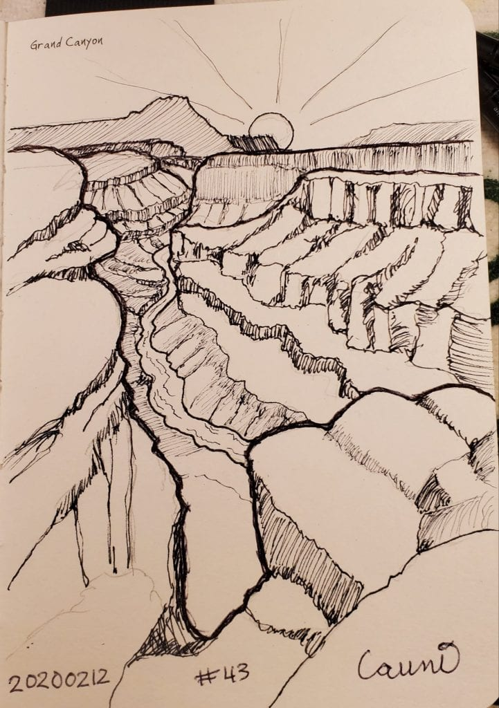 2020 Sketch of the day Number 43: Grand Canyon