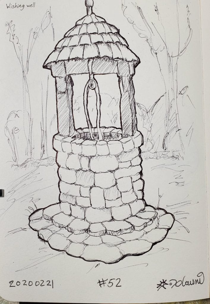 2020 Sketch of the day Number 52: Wishing Well